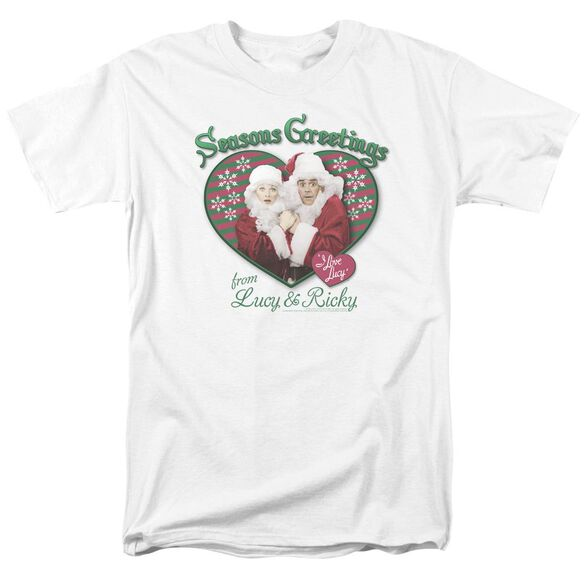 I Love Lucy Seasons Greetings Short Sleeve Adult T-Shirt