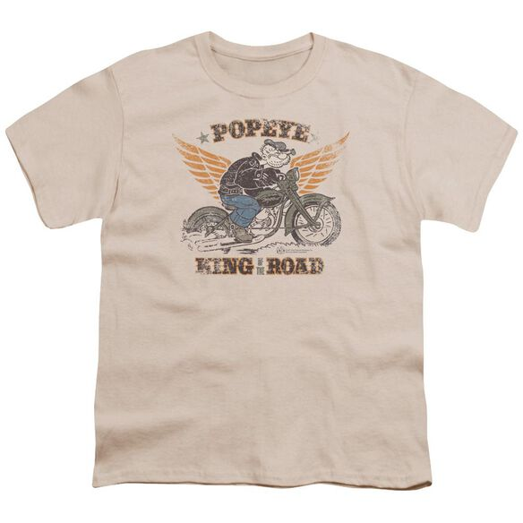 Popeye King Of The Road Short Sleeve Youth T-Shirt