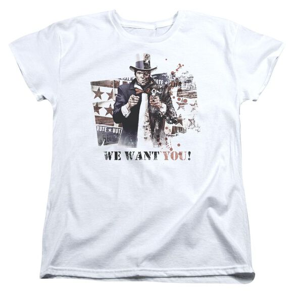 Arkham City We Want You Short Sleeve Womens Tee T-Shirt