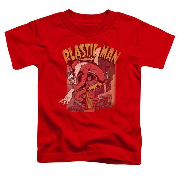 Dc Plastic Man Street Short Sleeve Toddler Tee Red Sm T-Shirt