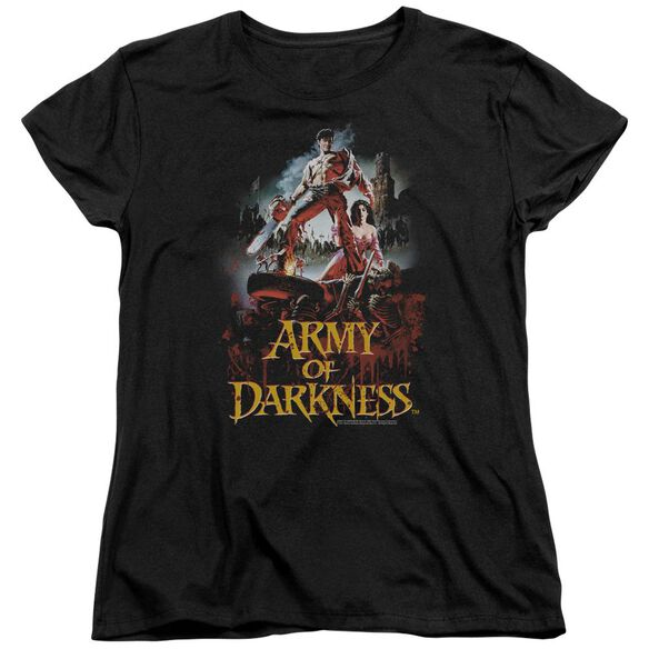 Army Of Darkness Bloody Poster Short Sleeve Womens Tee T-Shirt