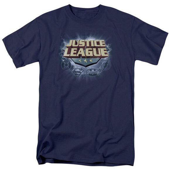 Jla Storm Logo Short Sleeve Adult T-Shirt