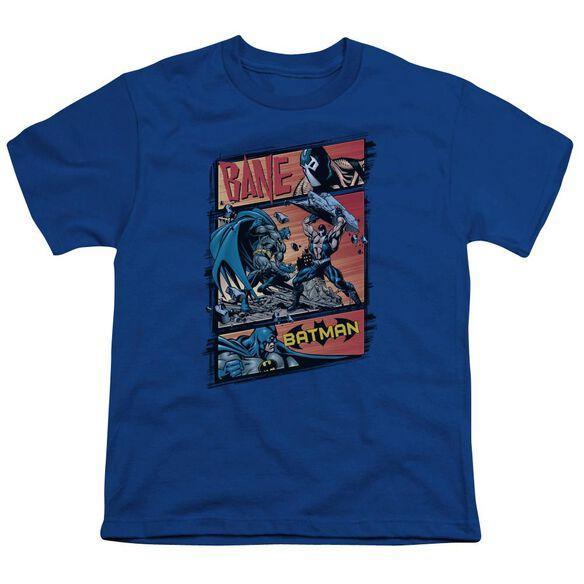 BATMAN EPIC BATTLE - S/S YOUTH 18/1 - ROYAL BLUE T-Shirt