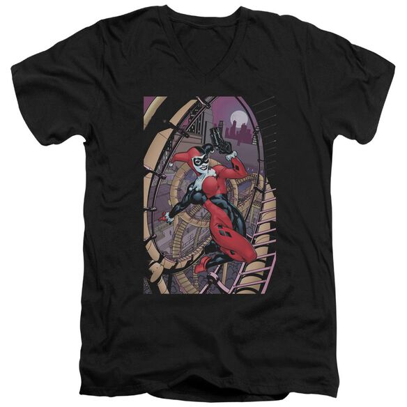 Batman Harley First Short Sleeve Adult V Neck T-Shirt