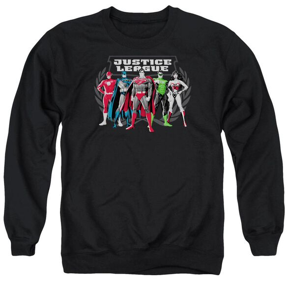 Jla The Big Five Adult Crewneck Sweatshirt