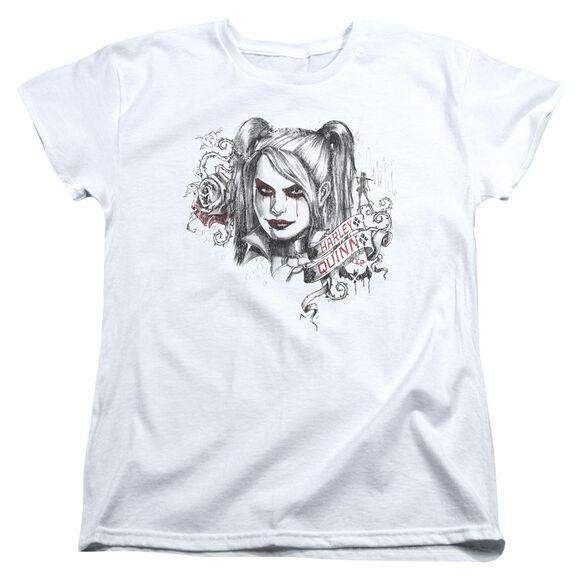 Batman Arkham Knight Sketchy Girl Short Sleeve Womens Tee T-Shirt