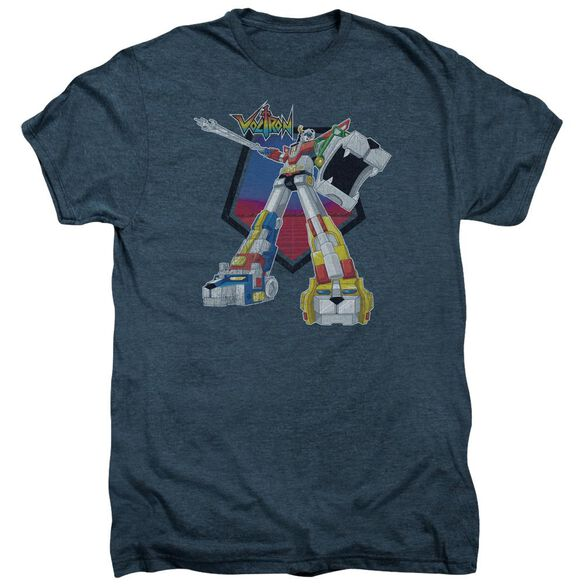 Voltron Blazing Sword Short Sleeve Adult Premium Tee Indigo T-Shirt