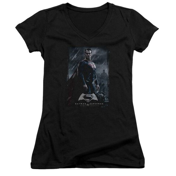 Batman V Superman Supe Poster Junior V Neck T-Shirt