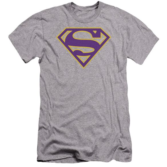 Superman Purple & Gold Shield Premuim Canvas Adult Slim Fit Athletic
