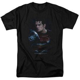 Batman V Superman Super Angry Short Sleeve Adult Black T-Shirt