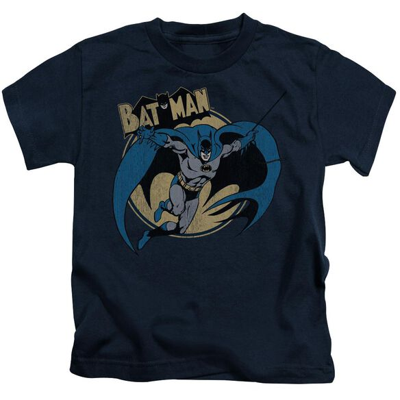 Batman Through The Night Short Sleeve Juvenile Navy T-Shirt