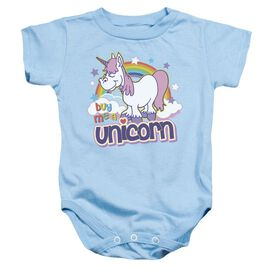 Buy Me A Unicorn - Infant Snapsuit - Light Blue - Lg