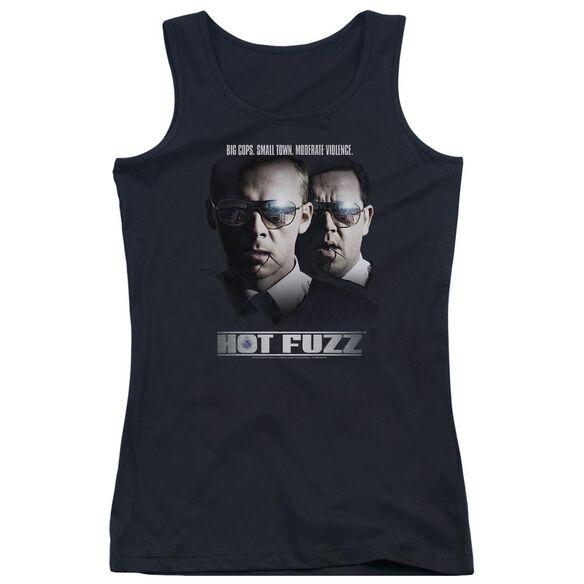 Hot Fuzz Big Cops Juniors Tank Top