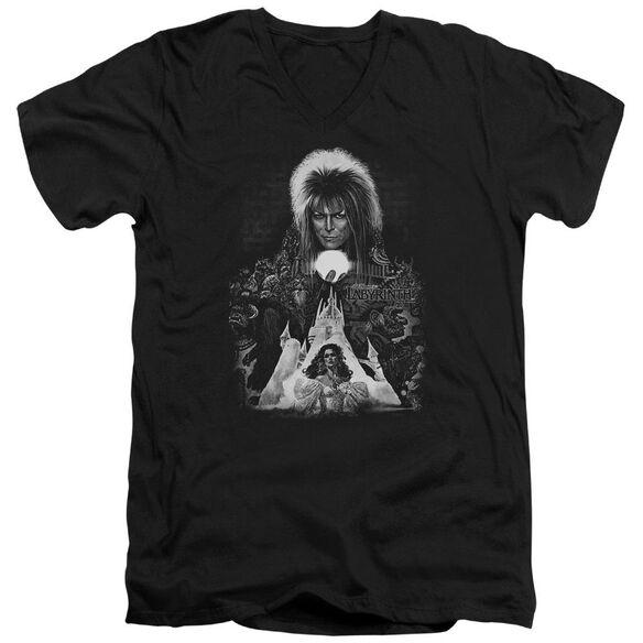 Labyrinth Castle Short Sleeve Adult V Neck T-Shirt