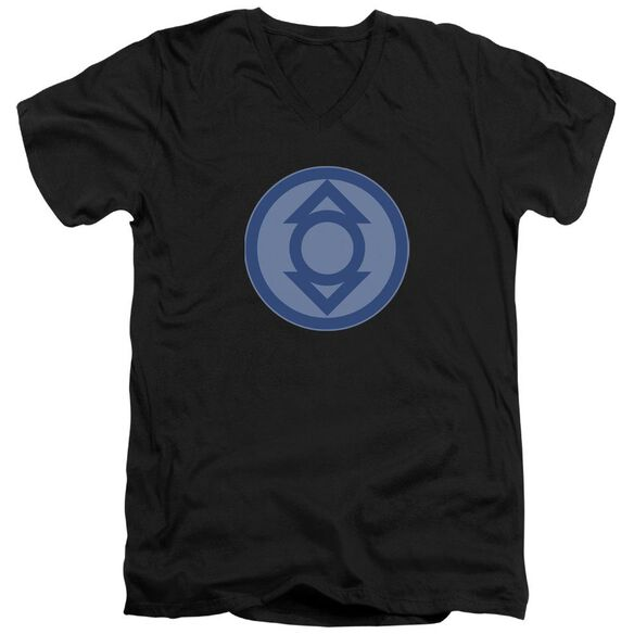 Green Lantern Indigo Symbol Short Sleeve Adult V Neck T-Shirt