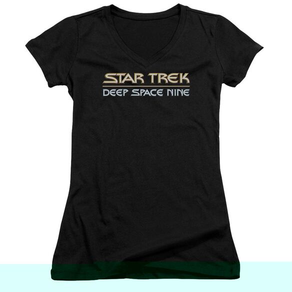 Star Trek Deep Space Nine Logo Junior V Neck T-Shirt