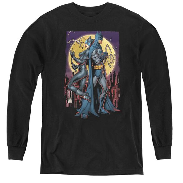 Batman Paint The Town Red - Youth Long Sleeve Tee - Black