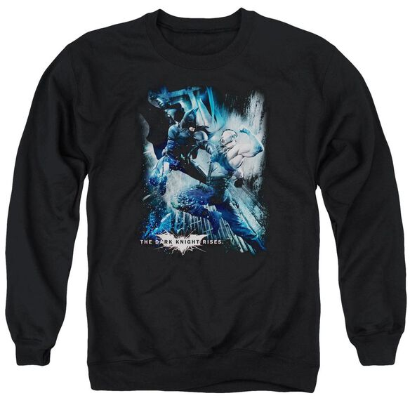 Dark Knight Rises Showdown Adult Crewneck Sweatshirt
