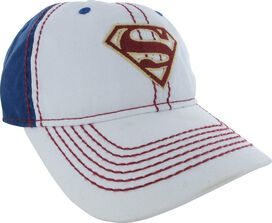 Supergirl Logo Red Stitched Velcro Junior Hat
