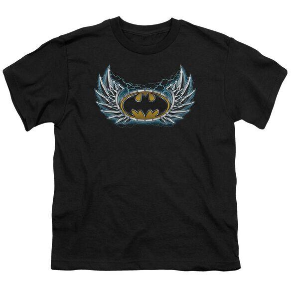 Batman Steel Wings Logo Short Sleeve Youth T-Shirt