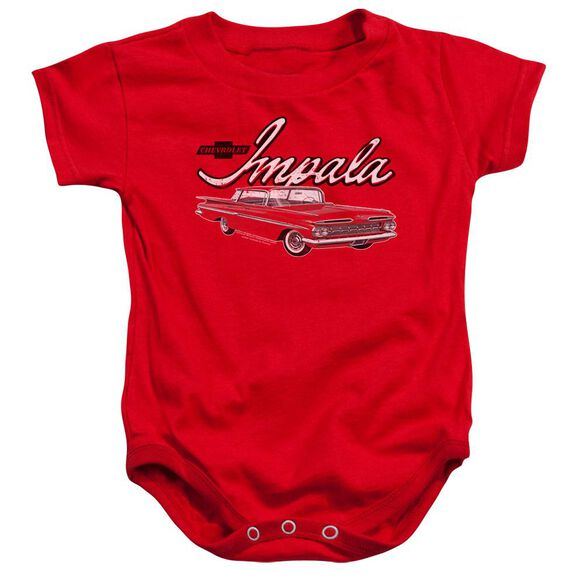 Chevrolet Classic Impala Infant Snapsuit Red