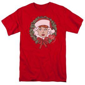 I Love Lucy Wreath Short Sleeve Adult T-Shirt