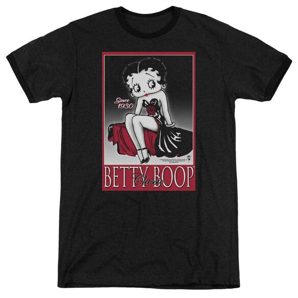 Betty Boop Classic Adult Heather Ringer