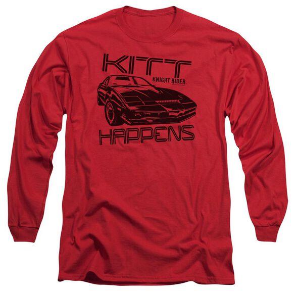 Knight Rider Kitt Happens Long Sleeve Adult T-Shirt