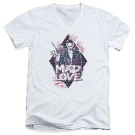Suicide Squad Mad Love Short Sleeve Adult V Neck T-Shirt