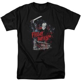 Friday The 13 Th Cabin Short Sleeve Adult T-Shirt
