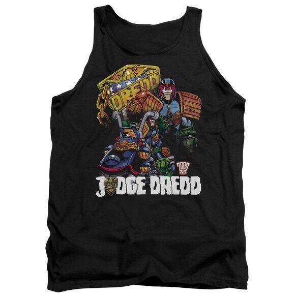 Judge Dredd Bike And Badge Adult Tank