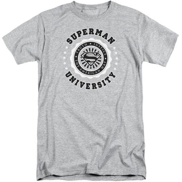 Superman Superman University Short Sleeve Adult Tall Athletic T-Shirt
