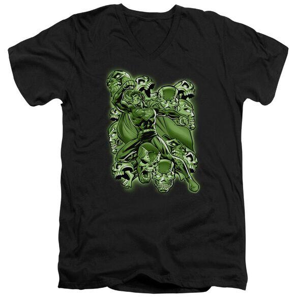 Superman Metallo Mayhem Short Sleeve Adult V Neck T-Shirt