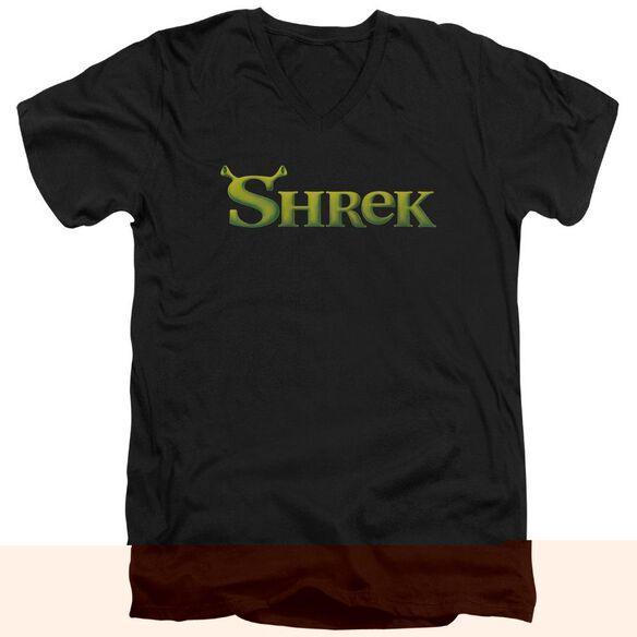 Shrek Logo Short Sleeve Adult V Neck T-Shirt
