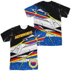 Atari Asteroids Arcade (Front Back Print) Short Sleeve Adult Poly Crew T-Shirt