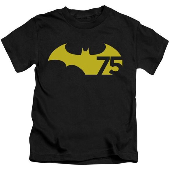 Batman 75 Logo 2 Short Sleeve Juvenile T-Shirt