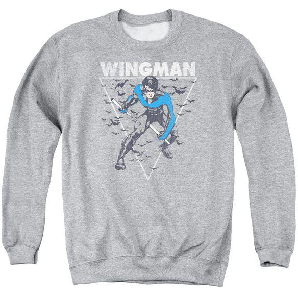 Batman Nightwingman Adult Crewneck Sweatshirt Athletic