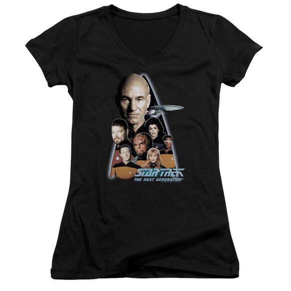 Star Trek The Next Generation Junior V Neck T-Shirt