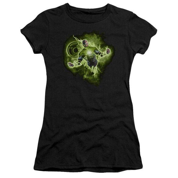 Green Lantern Lantern Nebula Short Sleeve Junior Sheer T-Shirt