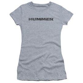Hummer Distressed Hummer Logo Short Sleeve Junior Sheer Athletic T-Shirt
