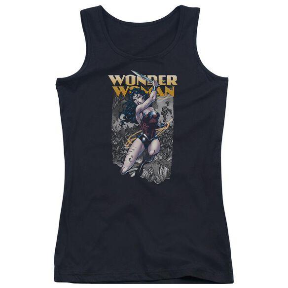 Jla Wonder Slice Juniors Tank Top