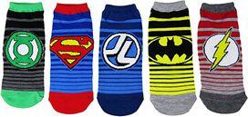 DC Comics Women's Justice League Ankle No Show Socks 5 Pack