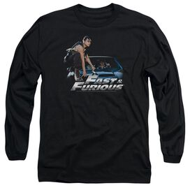 FAST AND THE FURIOUS CAR RIDE - L/S ADULT 18/1 - BLACK - 2X - BLACK T-Shirt