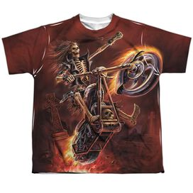 Anne Stokes Hellrider Short Sleeve Youth Poly Crew T-Shirt