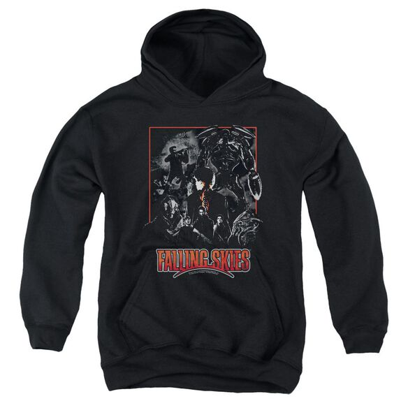 Falling Skies Collage Youth Pull Over Hoodie