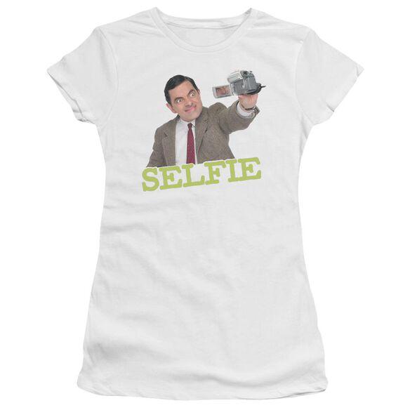 Mr Bean Selfie Short Sleeve Junior Sheer T-Shirt