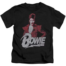 David Bowie Diamond David Short Sleeve Juvenile Black T-Shirt