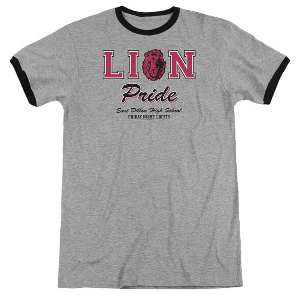 Friday Night Lights Lions Pride Adult Ringer Heather Black