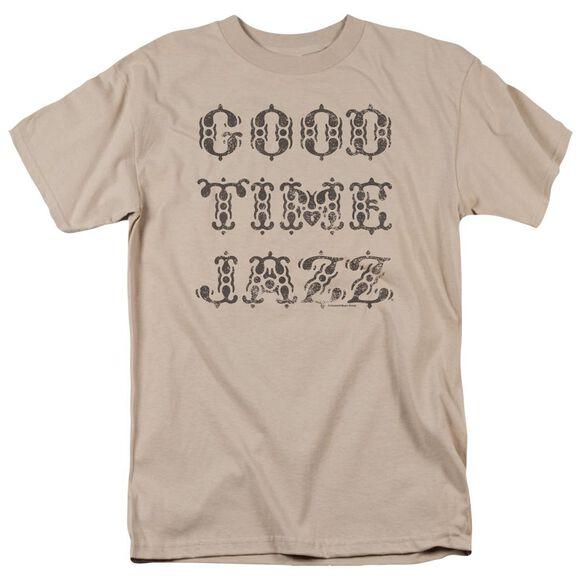 Good Time Jazz Retro Good Times Short Sleeve Adult Sand T-Shirt