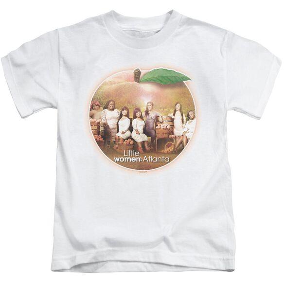 Little Women Atlanta Peach Pie Short Sleeve Juvenile White T-Shirt